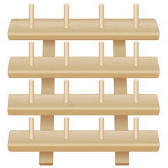 Wood Rack for spools of thread, sew, tailor, quilt, DIY crafts