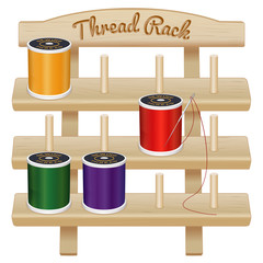 Wood Rack, needle thread sew, tailor, quilt, embroider DIY craft