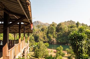 カンチャナブリの風景 遠景