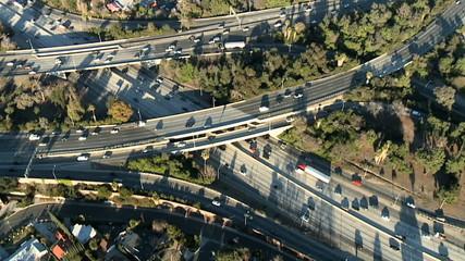 Aerial View of Freeway / Highway Interchange Los Angeles