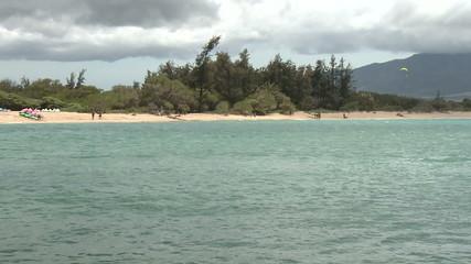 Wind Surfers in Kahului Maui - Time Lapse