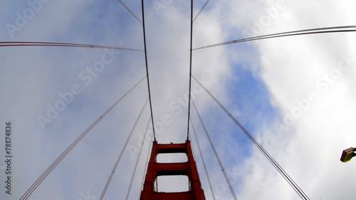 POV Driving Across the Golden Gate Bridge Daytime San Francisco © mountairyfilms