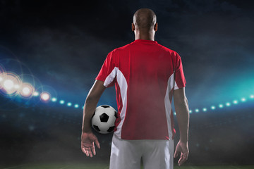 Player with soccer ball