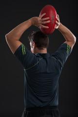 Ready to throw a football