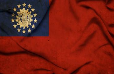 Myanmar waving flag