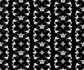Damask Wallpaper Pattern: monochrome