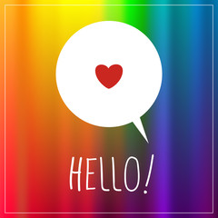 Love, Hello sign, type, text
