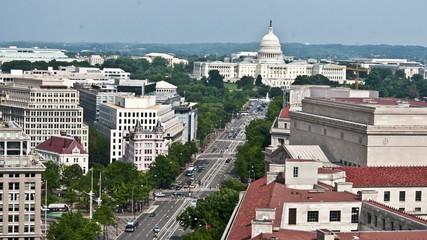 Washington DC -  Capital Building - Overhead - Time Lapse