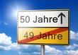 50 Jahre 50ster Geburtstag