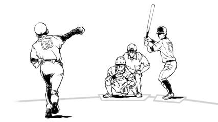 野球(イラスト)