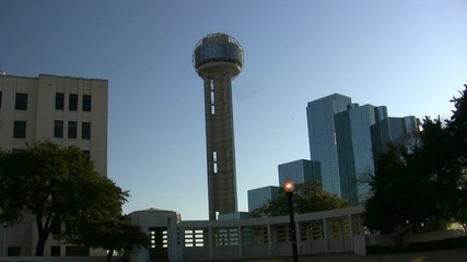 Reunion Tower And Dealy Plaza Dallas Texas