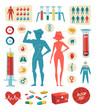 Medicine and healthcare. Infographic elements.