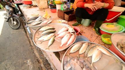 Walk Through of Busy Street Market in Pham Ngu Lao - Ho Chi Minh City (Saigon)
