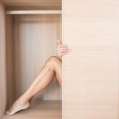 chiusa nell'armadio