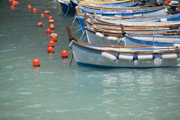 Fishing boats at italian harbor