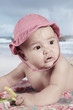 baby in the beach