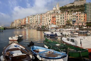 Fishing village Porto Venere at Cinque Terre in Italy