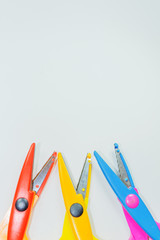 Colored Scissors with
