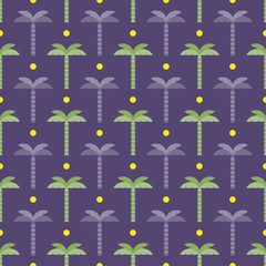 sun and palm trees pattern