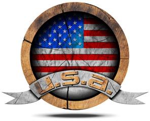 USA Flag - Wooden Icon