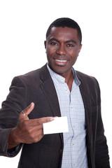 Afroamerikanischer Geschäftsmann freundlich Visitenkarte