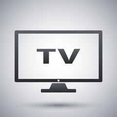 Vector modern tv icon