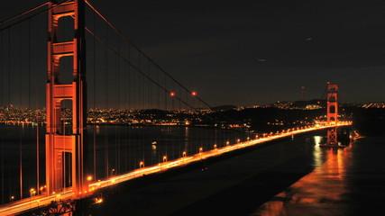 Time Lapse of San Fran between Golden Gate Bridge Sunset