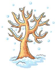 Winter tree drawing