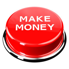 Finance concept: Make money button isolated on white background