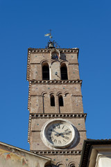 Campanile Santa Maria in Trastevere - Madonna col bambino