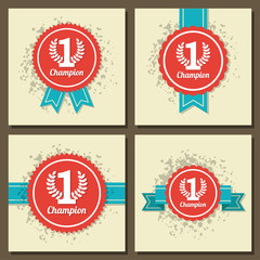 Illustraion of flat design award signs