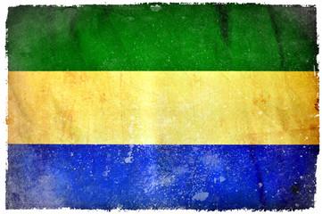 Gabon grunge flag