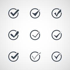 Illustration of modern confirm icons set