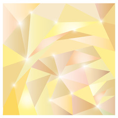 Amber polygon background with glitter