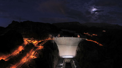 Hoover Dam at Sunset - Time Lapse