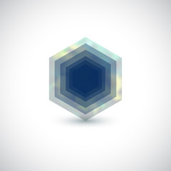 Hexagon vector logo design