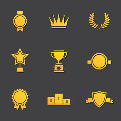 Illustration of modern flat design awards