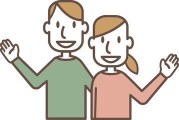 若い笑顔のカップル