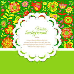floral background for congratulations