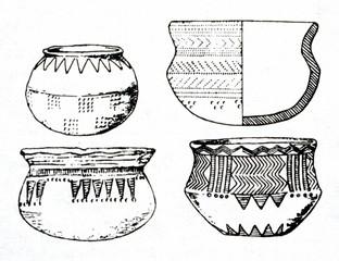 Abashevo culture corded ware ceramics