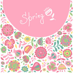 Spring card for congratulations