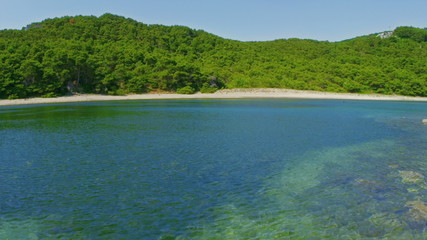 Deserted sandy beaches on the island Mljet