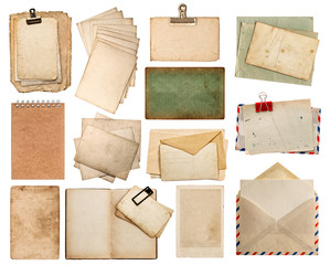 Used paper sheets. Vintage photo album and book pages