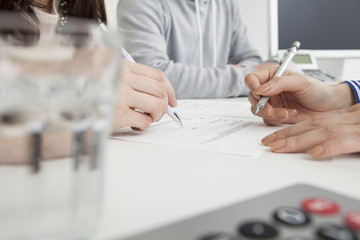 Couples signed a real estate contract