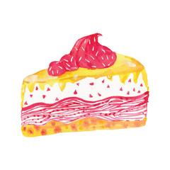 watercolor cream cake
