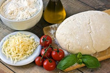 Dought for italian pizza preparation