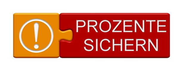 Puzzle Button: Prozente sichern