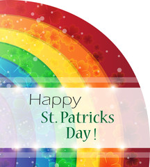 St. Patrick's Day rainbow background