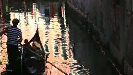 Evening gondola ride along the canals of Venice