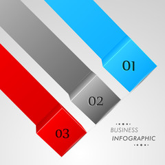 Colorful business infographic layouts on grey background.